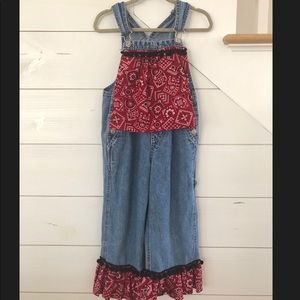 Other - Girls Farmer Costume Jean Overalls Size 5